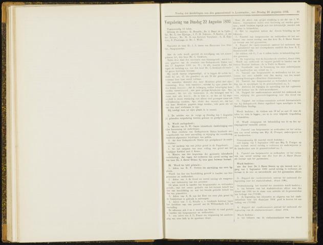 Raadsverslagen van de gemeente Leeuwarden, 1865-2007 (Notulen) 1893-08-22