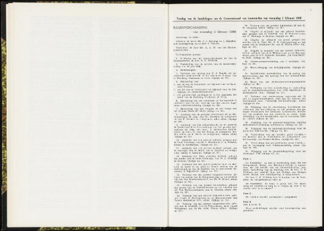Raadsverslagen van de gemeente Leeuwarden, 1865-2007 (Notulen) 1966-02-02