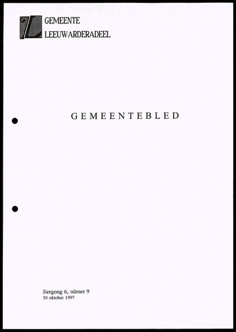 Notulen van de gemeenteraad van Leeuwarderadeel 1997-10-30