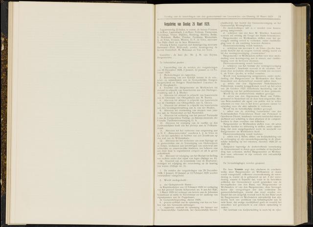 Raadsverslagen van de gemeente Leeuwarden, 1865-2007 (Notulen) 1929-03-26