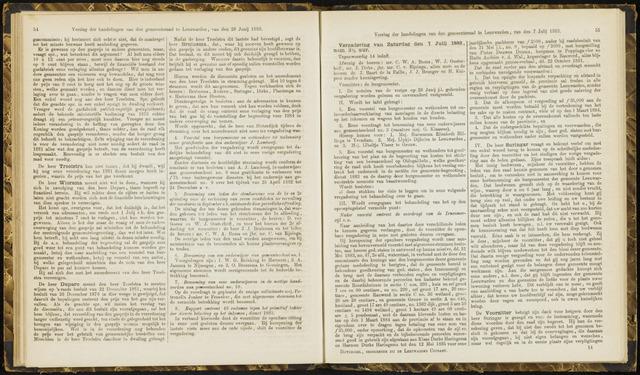Raadsverslagen van de gemeente Leeuwarden, 1865-2007 (Notulen) 1883-07-07