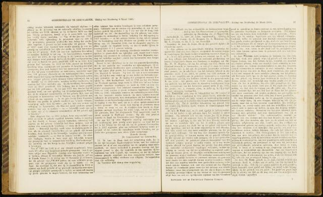 Raadsverslagen van de gemeente Leeuwarden, 1865-2007 (Notulen) 1866-03-15