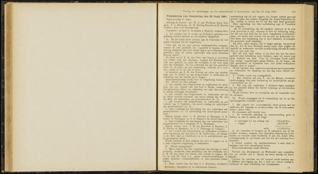 Raadsverslagen van de gemeente Leeuwarden, 1865-2007 (Notulen) 1884-06-26
