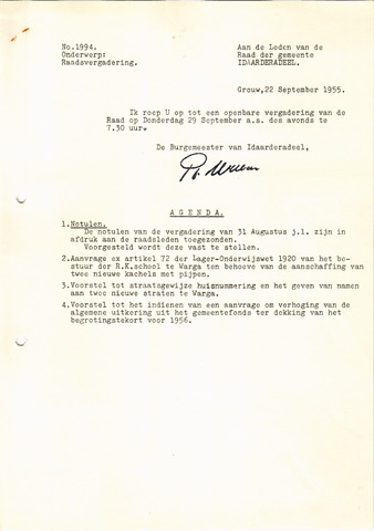 raadsverslagen Idaarderadeel 1935-1983 1955-09-29