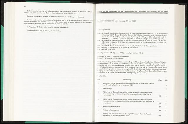 Raadsverslagen van de gemeente Leeuwarden, 1865-2007 (Notulen) 1982-05-17