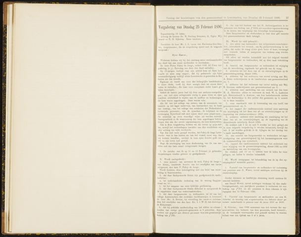 Raadsverslagen van de gemeente Leeuwarden, 1865-2007 (Notulen) 1896-02-25