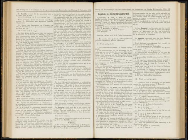 Raadsverslagen van de gemeente Leeuwarden, 1865-2007 (Notulen) 1912-09-24