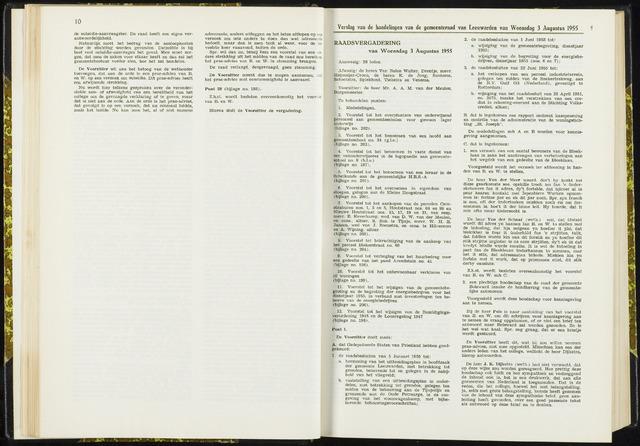 Raadsverslagen van de gemeente Leeuwarden, 1865-2007 (Notulen) 1955-08-03