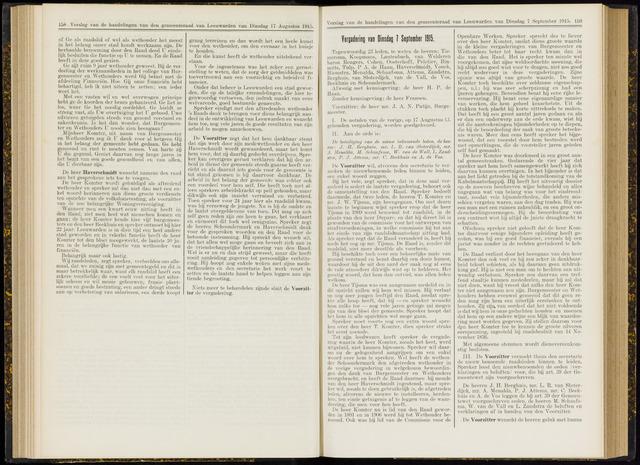 Raadsverslagen van de gemeente Leeuwarden, 1865-2007 (Notulen) 1915-09-07