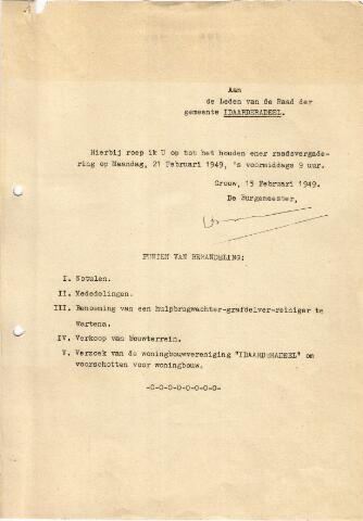 raadsverslagen Idaarderadeel 1935-1983 1949-02-21