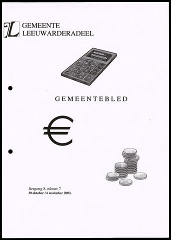 Notulen van de gemeenteraad van Leeuwarderadeel 2003-10-30