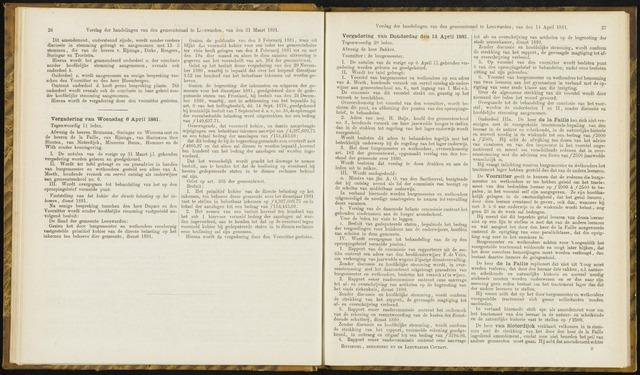 Raadsverslagen van de gemeente Leeuwarden, 1865-2007 (Notulen) 1881-04-06