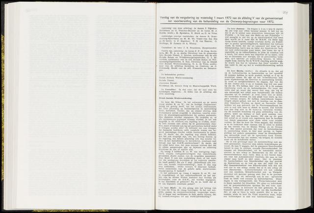 Raadsverslagen van de gemeente Leeuwarden, 1865-2007 (Notulen) 1972-03-01