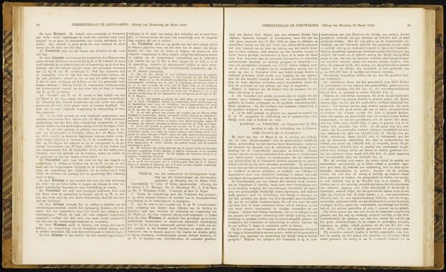 Raadsverslagen van de gemeente Leeuwarden, 1865-2007 (Notulen) 1866-03-26