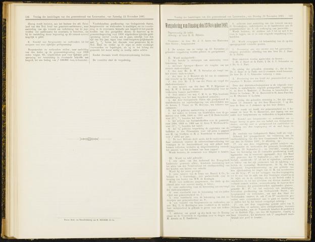 Raadsverslagen van de gemeente Leeuwarden, 1865-2007 (Notulen) 1897-11-23