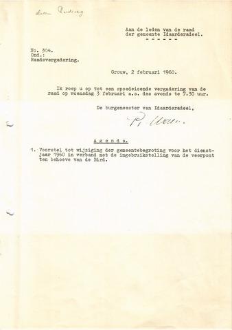 raadsverslagen Idaarderadeel 1935-1983 1960