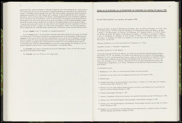 Raadsverslagen van de gemeente Leeuwarden, 1865-2007 (Notulen) 1978-08-28