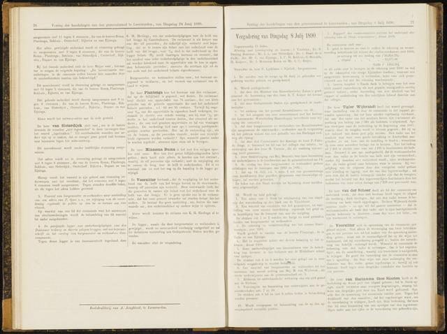 Raadsverslagen van de gemeente Leeuwarden, 1865-2007 (Notulen) 1890-07-08