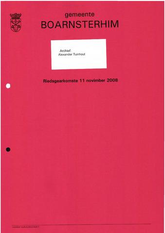 Boarnsterhim vergaderstukken gemeenteraad  2008-11-11