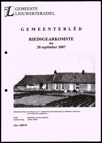 Notulen van de gemeenteraad van Leeuwarderadeel 2007-09-20