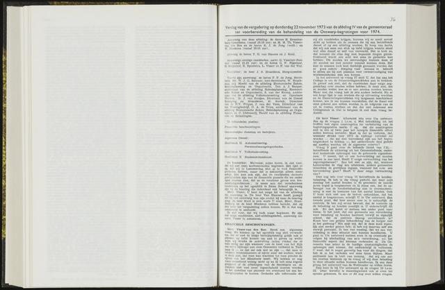Raadsverslagen van de gemeente Leeuwarden, 1865-2007 (Notulen) 1973-11-22