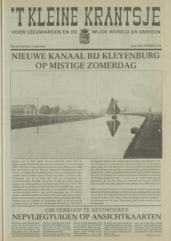 't Kleine Krantsje, 1964-1997 1983-06-11