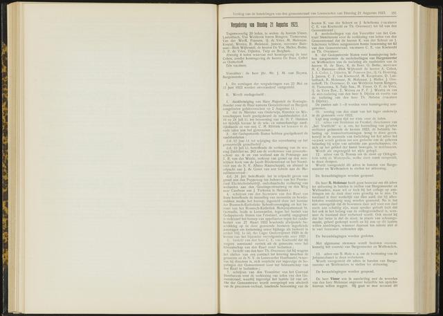 Raadsverslagen van de gemeente Leeuwarden, 1865-2007 (Notulen) 1923-08-21
