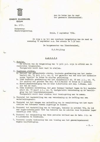raadsverslagen Idaarderadeel 1935-1983 1964-09-16