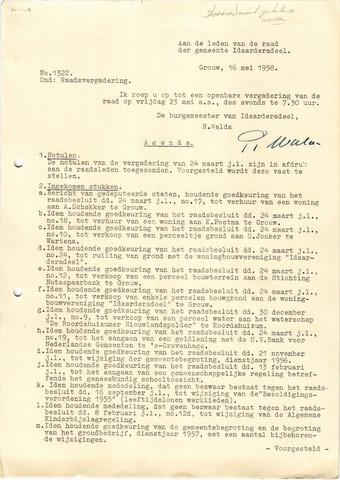raadsverslagen Idaarderadeel 1935-1983 1958-05-23