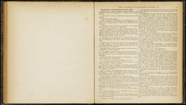Raadsverslagen van de gemeente Leeuwarden, 1865-2007 (Notulen) 1872-06-27