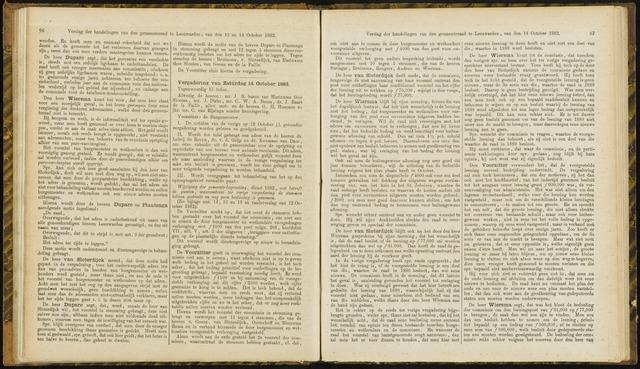 Raadsverslagen van de gemeente Leeuwarden, 1865-2007 (Notulen) 1882-10-14