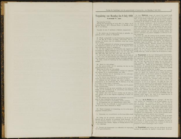 Raadsverslagen van de gemeente Leeuwarden, 1865-2007 (Notulen) 1889-08-07