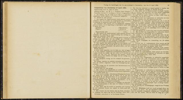 Raadsverslagen van de gemeente Leeuwarden, 1865-2007 (Notulen) 1884-04-10