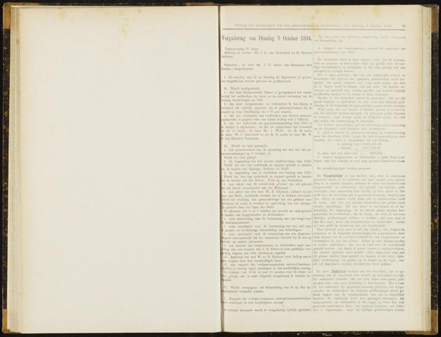 Raadsverslagen van de gemeente Leeuwarden, 1865-2007 (Notulen) 1894-10-09
