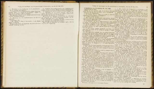 Raadsverslagen van de gemeente Leeuwarden, 1865-2007 (Notulen) 1881-07-28