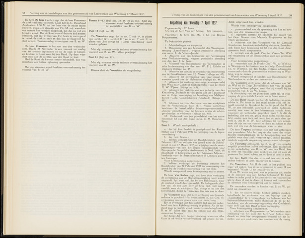 Raadsverslagen van de gemeente Leeuwarden, 1865-2007 (Notulen) 1937-04-07