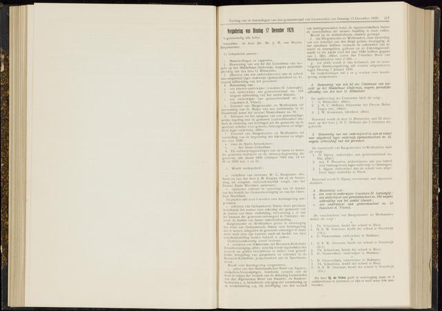 Raadsverslagen van de gemeente Leeuwarden, 1865-2007 (Notulen) 1929-12-17
