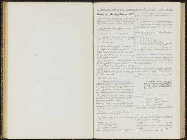 Raadsverslagen van de gemeente Leeuwarden, 1865-2007 (Notulen) 1903-12-08