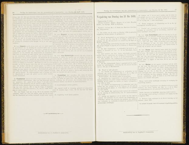 Raadsverslagen van de gemeente Leeuwarden, 1865-2007 (Notulen) 1893-05-23