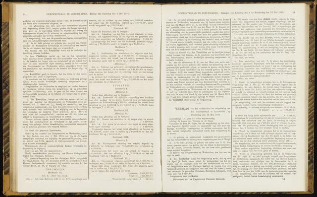 Raadsverslagen van de gemeente Leeuwarden, 1865-2007 (Notulen) 1869-05-13