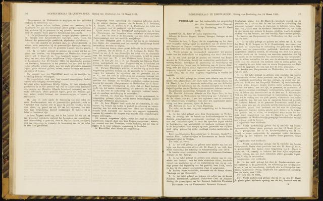 Raadsverslagen van de gemeente Leeuwarden, 1865-2007 (Notulen) 1869-03-25