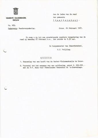 raadsverslagen Idaarderadeel 1935-1983 1967-02-27
