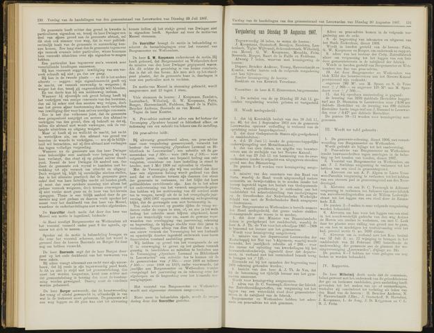 Raadsverslagen van de gemeente Leeuwarden, 1865-2007 (Notulen) 1907-08-20