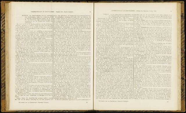 Raadsverslagen van de gemeente Leeuwarden, 1865-2007 (Notulen) 1866-07-07