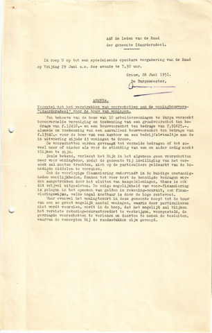raadsverslagen Idaarderadeel 1935-1983 1951-06-29