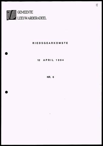 Notulen van de gemeenteraad van Leeuwarderadeel 1994-04-12