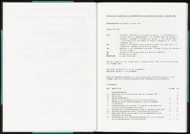 Raadsverslagen van de gemeente Leeuwarden, 1865-2007 (Notulen) 1990