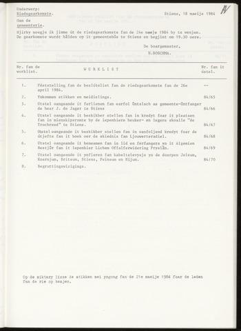 Notulen van de gemeenteraad van Leeuwarderadeel 1984-05-24