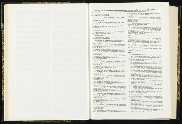 Raadsverslagen van de gemeente Leeuwarden, 1865-2007 (Notulen) 1961-05-03