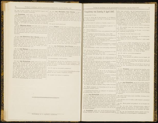 Raadsverslagen van de gemeente Leeuwarden, 1865-2007 (Notulen) 1887-04-09